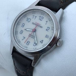 Times Watch Ladies Analog Indiglo Watch Leather